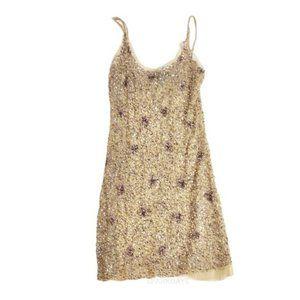 Arden B Gold Sequin Mini Cocktail Dress | L